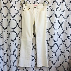 LILLY PULITZER off white denim jeans MAIN LINE FIT